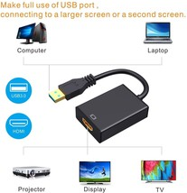 USB to HDMI Adapter,ABLEWE USB 3.0/2.0 to HDMI 1080P Video Graphics Cable Conver image 2