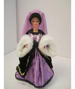 Victorian Plum Princess Elegant Barbie OOAK  Satin Velvet, Ribbons & Fur - $48.00