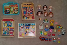 VTG Knickerbocker Dolly Pop Lot Toy Store Dress Shop House Farm 24 Clip ... - $48.15