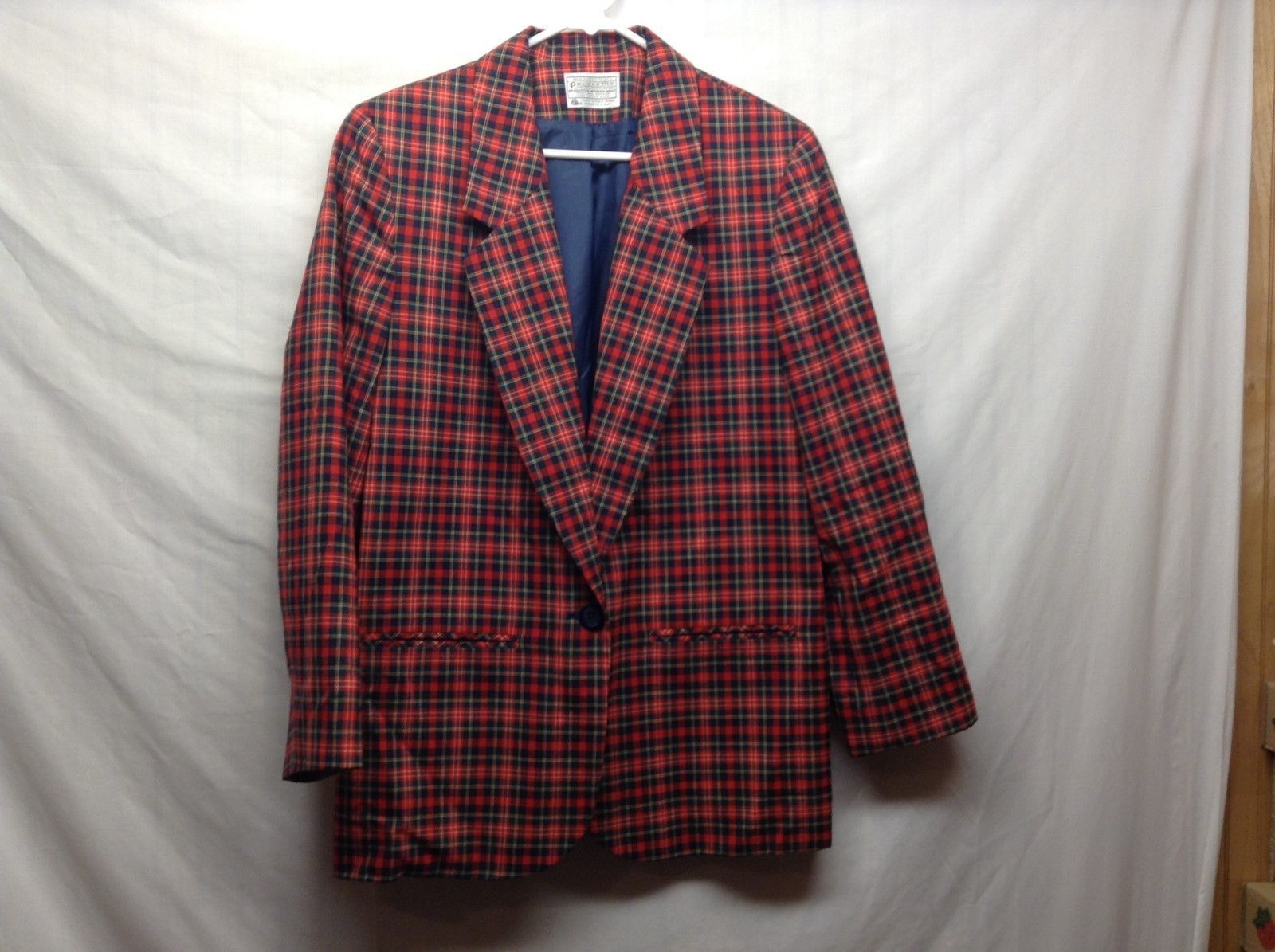 Pendleton Virgin Wool Plaid Multicolor Blazer