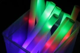 30 PCS LOT Light Up Foam Sticks LED Wands Rally Rave Batons DJ Flashing ... - $27.49