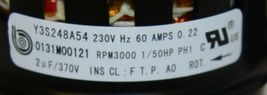 Goodman Amana Parts 0131M00121SP Blower ID Combustion Motor image 6