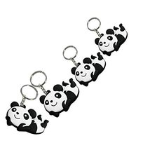Set of 4 Lovely Panda Superstore Key Chain Portable Car Keychain Key Rings