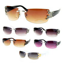 Butterfly Design Women's Fashion Sunglasses Rimless Black New - $13.12 CAD