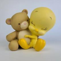 TWEETY BIRD HUGGING TEDDY BEAR COIN / PIGGY BANK - LOONEY TUNES - WARNER... - $27.71