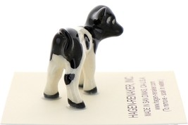 Hagen-Renaker Miniature Ceramic Cow Figurine Holstein Calf image 2