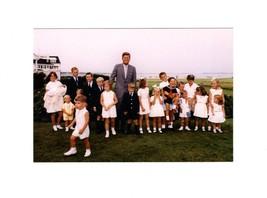 POSTCARD - PRESIDENT KENNEDY AT HYANNISPORT WITH KENNEDY CHILDREN-8/3/63... - $3.88