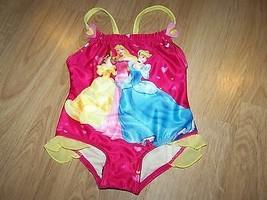 Size 12 Months Disney Princess Swimsuit Bathing Swim Suit Cinderella Bel... - $14.00