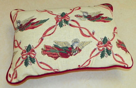 Christmas Angel Print Decorative Pillow  16 x 10 - $29.95