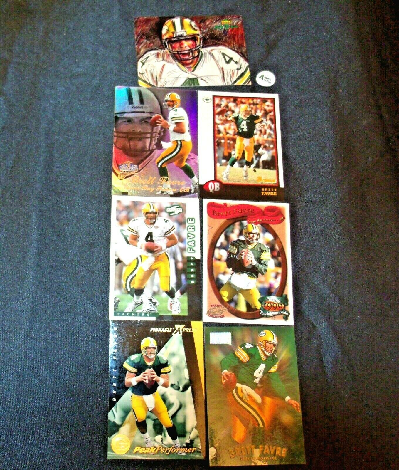 Brett Farve # 4 Green Bay Packers QB Football Trading Cards AA-19 FTC3002 Vintag