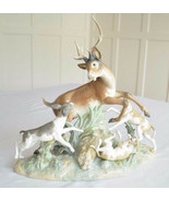 Lladro 1238 BUCK HUNTERS Glazed Limited Edition Perfect Condition - $1,584.00