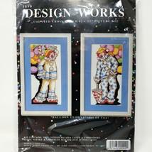 Design Works Crafts BALLOON CLOWN Cross Stitch Kit 2 Designs by Susan Iv... - $24.74