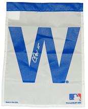 CHRIS BOSIO Signed Chicago CUBS 11x15 White W Flag - SCHWARTZ - $28.71