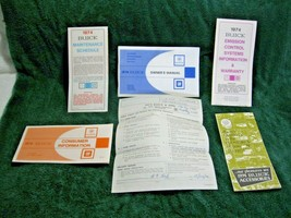 Vintage Collectible OEM 1974 BUICK 6pc Owner's Manual Set-Le Sabre-Riviera-GM!!  - $19.50