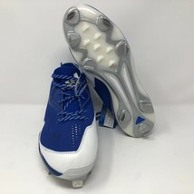 Adidas Mens PowerAlley 4 Metal Baseball Cleats Size 11 Royal Blue White - $37.86