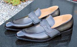 Burnished Blue Tone Stylish Men Premium Leather Moccasins Casual Dress Shoes - $139.99+