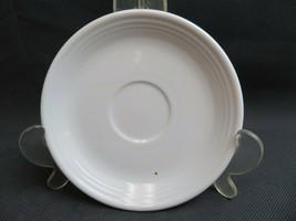 Vintage Fiesta USA white ceramic US Pottery deco saucer - $10.00