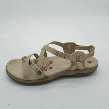 Skechers Womens Reggae Slim Razzle Dazzle Strappy Sandals Beige Buckle 9 - $34.64