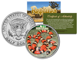 MILK SNAKE Collectible Reptiles JFK Kennedy Half Dollar Colorized U.S. C... - $8.86