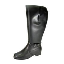 PEERAGE Gillian Women Wide Width Wide Calf Leather Boot Zipper and Inner... - $159.95