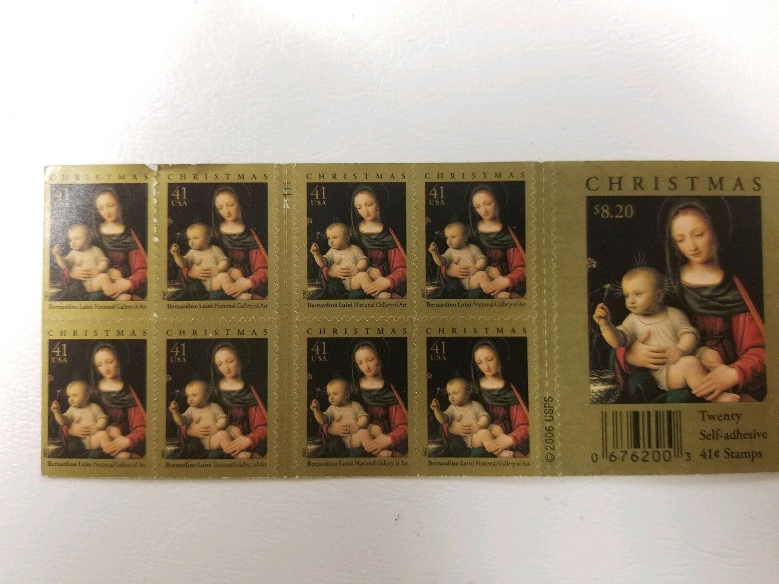 Primary image for Christmas 20/41 cent Self-Adhesive Stamps Bernardino Luini National Gallery 2006