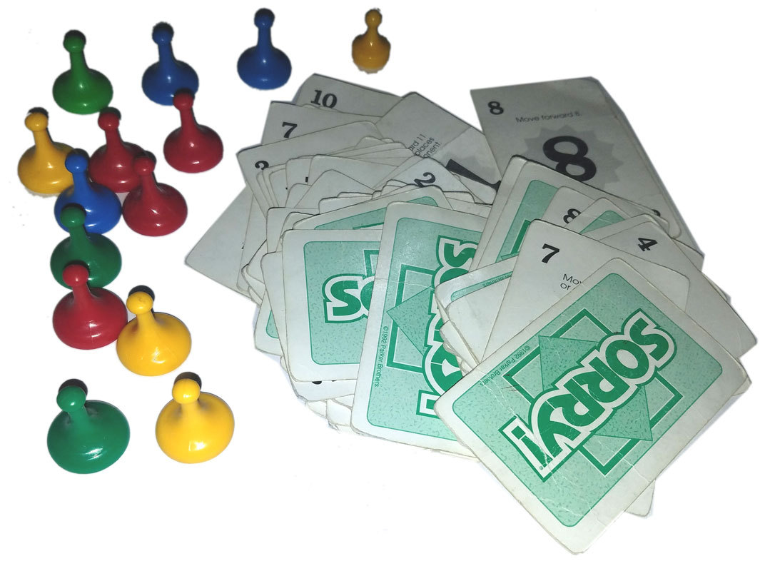 Sorry! / Sorry Parker Brothers Board Game Replacement Pieces & Cards