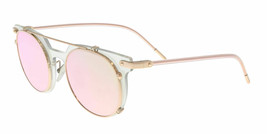 NEW AUTHENTIC DOLCE & GABBANA DG2196 12984Z CLEAR MIRROR OVAL SUNGLASSES - $199.96
