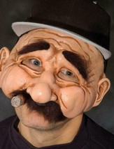Stan The Man Mask Mobster Foreigner European Halloween Costume Party Fun... - $64.95 CAD
