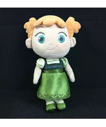 Disney Store Anna Frozen Plush Doll Young Toddler Pigtails Green Dress - $14.58