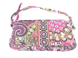 Vera Bradley Very Berry Paisley 2010 Retired Small Bag Wristlet Pink Zip... - $8.99