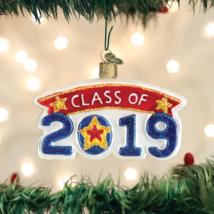 Old World Christmas Class Of 2019 Graduation Glass Christmas Ornament 36247 - $11.88