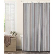 MAYTEX Jodie Chenille Striped Fabric Shower Curtain, 72X72 - $23.23
