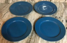 "Royal Norfolk 10 1/2"" Dinner Plates Set Of 4 Light Blue(New)SHIPS N 24 H... - $41.43"