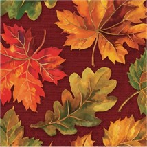 Fall Flourish 16 ct Luncheon Napkins Thanksgiving Banquet - $5.39