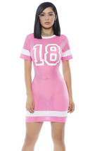 Forplay Played Yourself Football Jersey Pink & White Dress Costume - $49.99