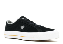 Converse Mens One Star Nubuck Ox Leather 153717C Black/Ash Grey/Gum Size 10 - $64.99