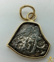 MEXICO 1/2 REAL 1715 FLEET GOLD PENDANT JEWELRY NECKLACE MEL FISHER PIRA... - $895.00