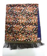 Japanese Fabric Vintage Table Centerpeice Kawashima Kyoto Japan Black Fl... - $24.00