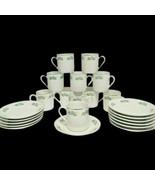 Lot of 11 Porcelain Demitasse Cups & 12 Saucers Coffee Espresso Floral G... - $44.45