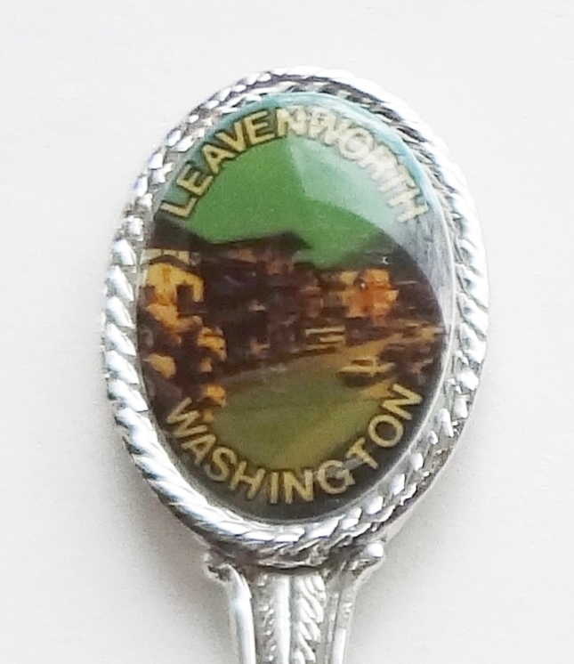Primary image for Collector Souvenir Spoon USA Washington Leavenworth City Street Map Bowl