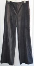 Ann Taylor Gray Pin Stripe Dress Pants 8 Women Lined Trouser Wool Stretc... - $29.05