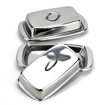 Covered butter dish, cute stainless steel antique butter dish, Silver(Pa... - €23,62 EUR