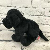 Webkinz Ganz Black Labrador Plush Sitting Stuffed Animal Soft Toy Puppy Dog - $7.91