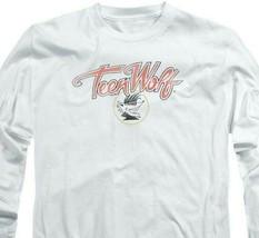 Teen Wolf T-shirt Retro Classic Werewolf movie graphic long sleeve tee MGM274 image 2