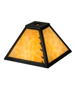 """Meyda Tiffany 8"""" Square Leafs Edge Leaves Replacement Lamp Shade - $108.69"""