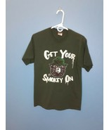 "Smokey The Bear ""Get Your Smokey On T-shirt Size Medium Green  - $19.70"