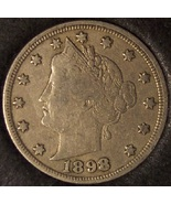 "1898 Liberty Head ""V"" Nickel F12 #0159 - $9.59"