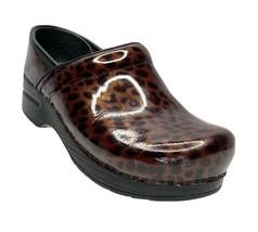 Dansko Womens Size 36 US 5.5-6 Comfort Shoe Brown Cheetah Print Slip On ... - $49.99