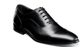 Florsheim Jetson Cap Toe Oxford Mens Shoes Black Leather 14250-001  - $129.99