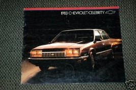 1983 Chevrolet  Celebrity Brochure - $2.00